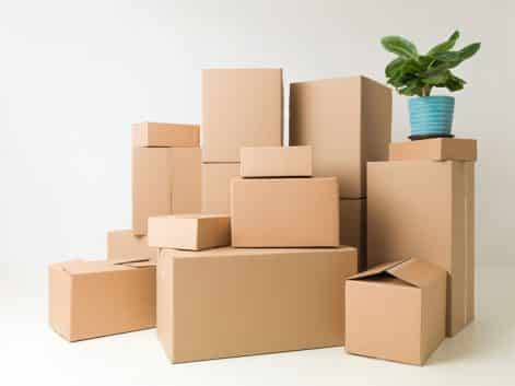 Boxes and packing materials at Total Self Storage
