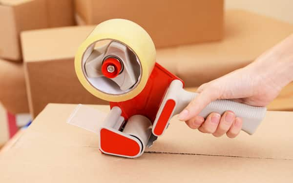 Packing box with Tape Dispenser