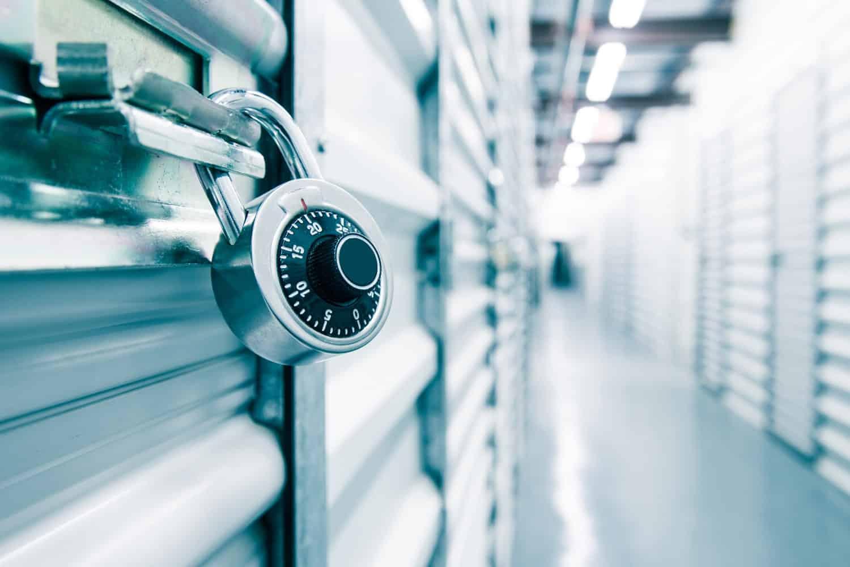 Security Lock in Total Self Storage Room