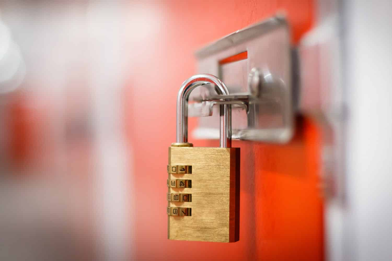 Self storage security lock